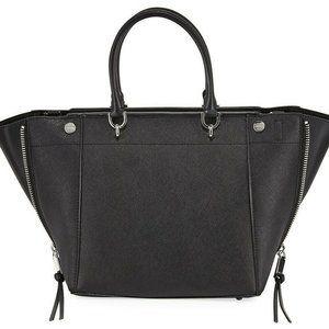 Calvin Klein Black Susan Leather Satchel NWT